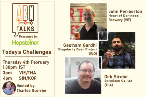 Panelists for a discussion on the challenges facing the Asia craft beer industry