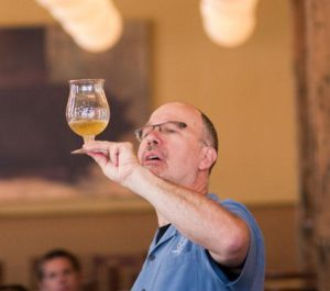 Ray Daniels of the Cicerone Certification Programme looks at a glass of beer