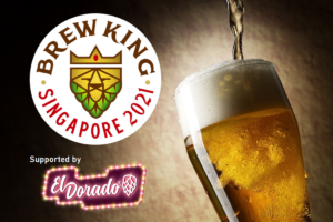 Brew King beer competition logo and beer glass