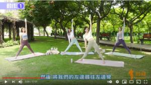 Four girls practice beer yoga in the park with Hoegaarden Botanic