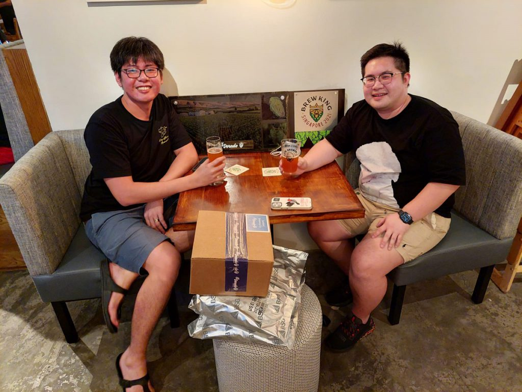 Sunbird Brewing Company brewers share a beer