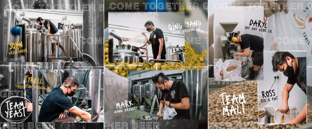 Singapore brewers brewing a collaboration brew